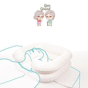 ที่รองสระผมบนเตียง